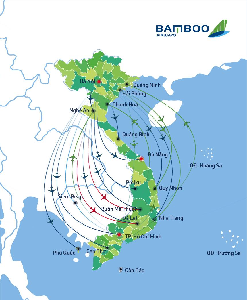 Route Network Bamboo Airways - Us-airways-center-map