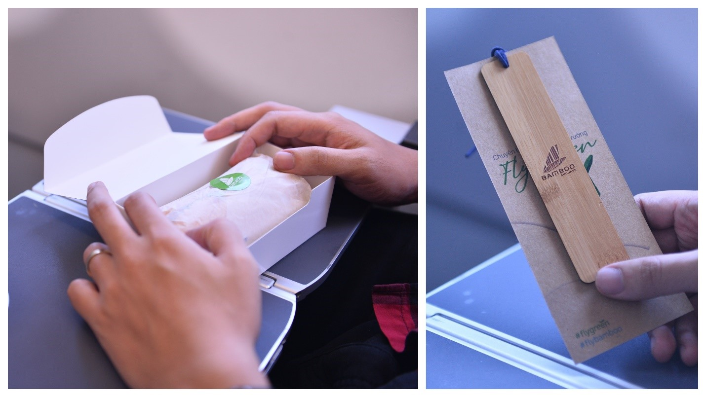 Chuyến bay Xanh – Fly Green thứ 2 của Hãng hạn chế sử dụng đồ nhựa dùng một lần