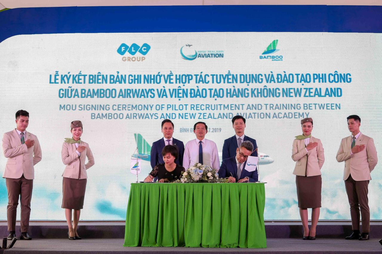 Bamboo Airways inked a Memorandum of Understanding (MoU) with the New Zealand Aviation Academy