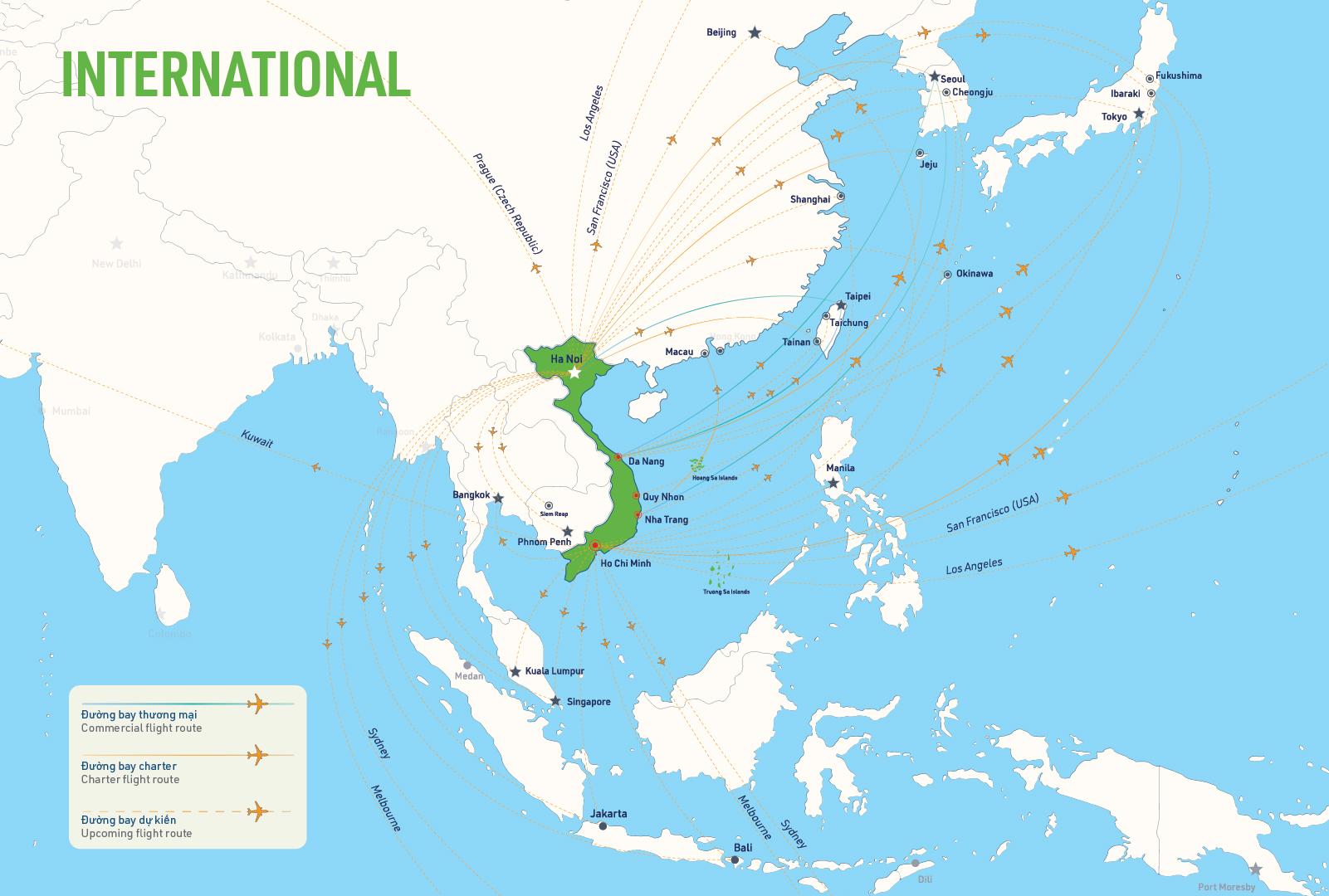 Mạng lưới đường bay quốc tế