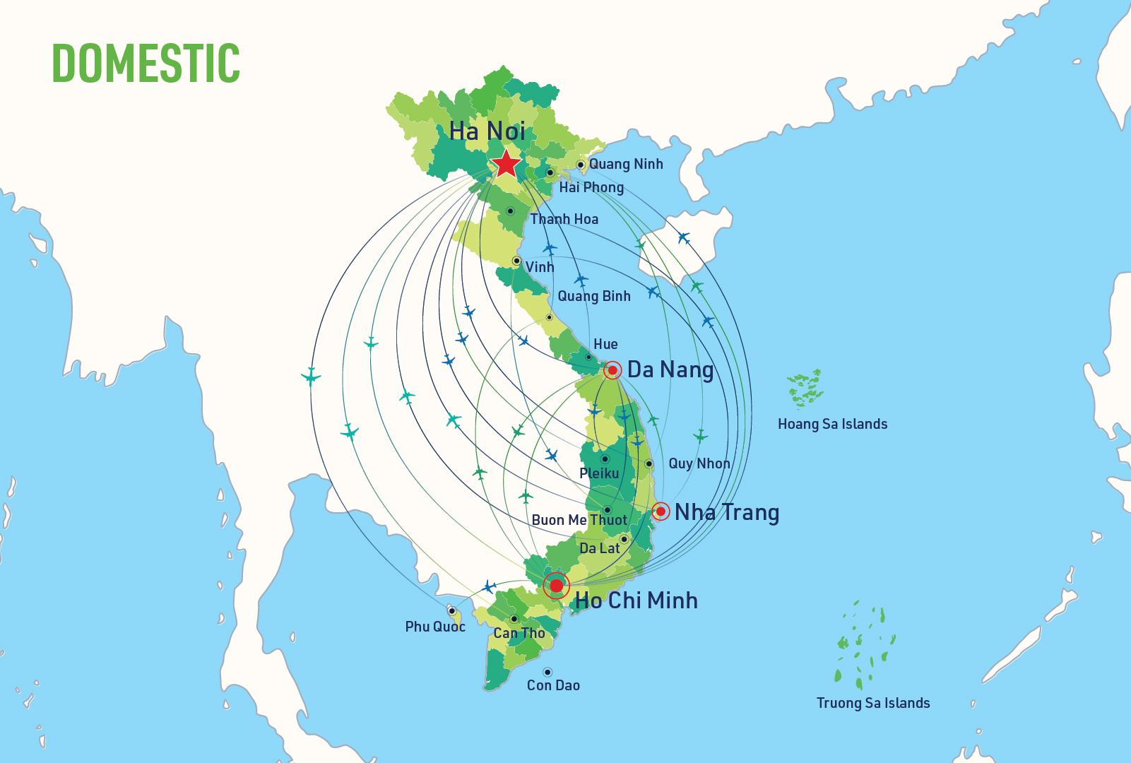 Mạng lưới đường bay nội địa Việt Nam