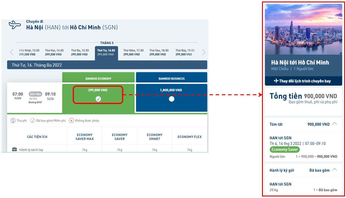 hướng dẫn cách đặt vé máy bay qua mạng | website chính thức bamboo airways